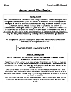 Amendments Mini Project