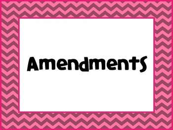Amendments Posters