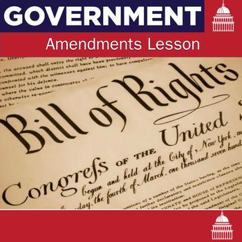 Amendments Powerpoint, Handout, and Quiz