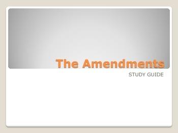 Amendments Study Guide