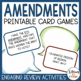 """Amendments Game Cards: """"I Have, Who Has..."""" and """"What Am I?"""""""