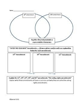 Amendments, The Amendment Process, and Due Process, Oh my! activities/worksheets