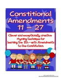 11th-27th  AMENDMENTS TO THE CONSTITUTION