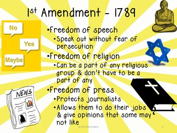 Amendments to the U.S. Constitution Powerpoint