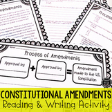 Amendments of Constitution Reading & Writing Activity (SS5CG2, SS5CG2a, SS5CG2b)