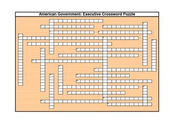 AmerGovt: Executive Crossword Puzzle