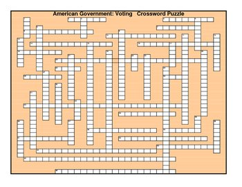 AmerGovt: Voting Crossword Puzzle