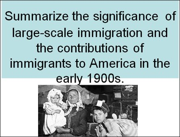 Amercan large-scale immigration 1900s