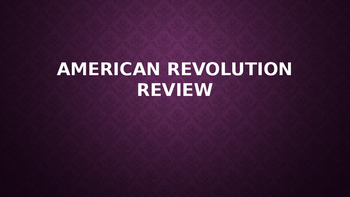 Amerian Revolution Review