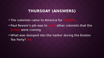 Amerian Revolution Review