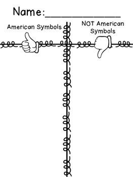 Amerian Symbols Sort