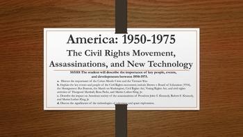 America 1950-1975: Civil Rights, Assassinations, & New Tec