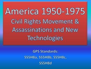 America 1950-1975: Civil Rights Movement, Assassinations,