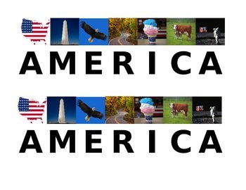 America Acrostic pictures