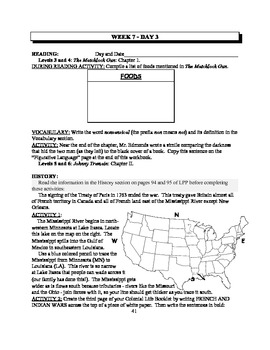America: An Integrated Curriculum, Year 1, Part I, Weeks 7-8 Workbook