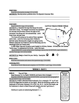 America: An Integrated Curriculum, Year 2, Part IV, Weeks 9-11 Workbook