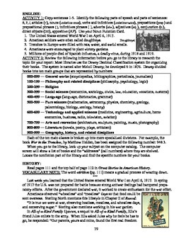 America: An Integrated Curriculum, Year 2, Part V, Weeks 5-6