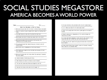 America Becomes a World Power Video Guide Part I
