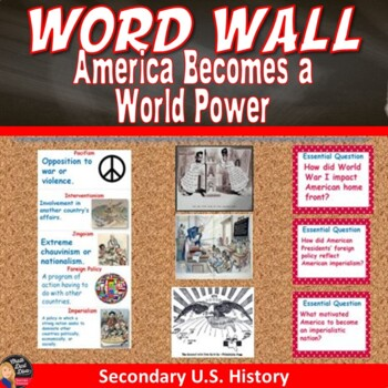 America Becomes a World Power Vocabulary WORD WALL Posters (U.S.History)