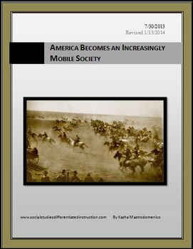 America Becomes and Increasingly Mobile Society Lesson Plan