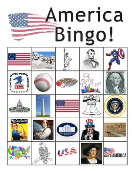 """America Bingo"" for Constitution Day!"