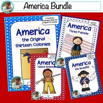 America Bundle: Practice Non-Fiction Reading passages and printables