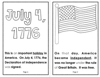America Celebrates The 4th of July {A Holiday Reader for Primary Students}