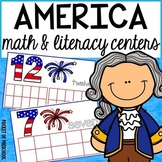President's Day, Election, & 4th of July America Themed Math & Literacy Centers