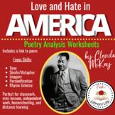 America Claude McKay Poetry Worksheets