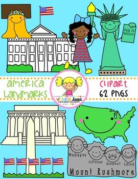 America Landmarks Clipart
