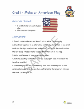 """""""America!"""" Common Core Aligned Math and Literacy Unit - ACTIVboard EDITION"""