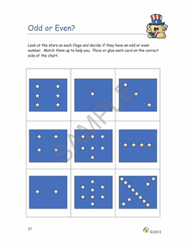 """America!"" Common Core Aligned Math and Literacy Unit - SMARTBOARD EDITION"