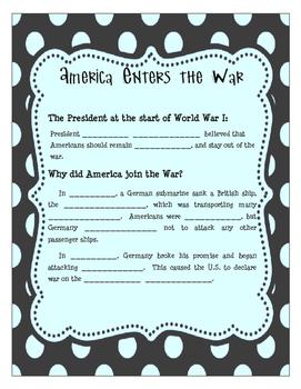 America Enters WWI