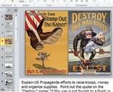 America Enters World War I PowerPoint Worksheet Quiz