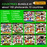 America, Europe, Asia, Australia Clipart-countries photocards