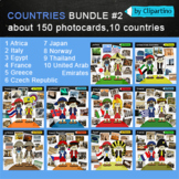 America, Europe, Asia, Australia Clipart part2-countries photocards