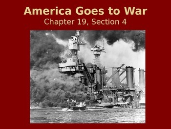 America Goes to War Powerpoint