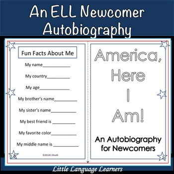 """ESL Activity: ELL Newcomer Autobiography-""""America (or Cana"""