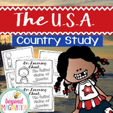 The United States of America (U.S.A.) Booklet Country Study Project Unit