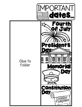 America Presidents Day Lapbook: Holidays, Presidents and Money