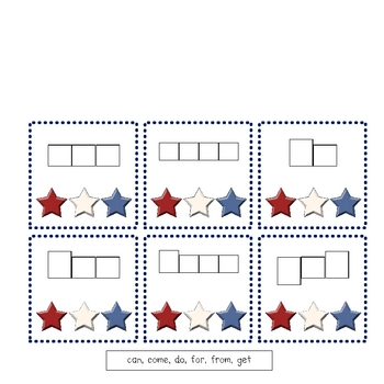 """America """"Lift the Flap"""" Sight Word Interactive Literacy Center"""