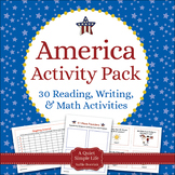 America Literacy and America Math - Patriotic Learning Activities