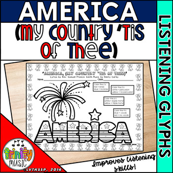 America (My Country 'Tis of Thee) Listening Glyphs