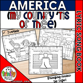 America (My Country 'Tis of Thee) Picture Song Book