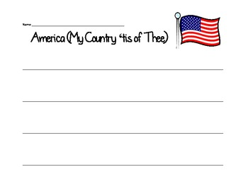 America (My Country 'tis of Thee) Word Order