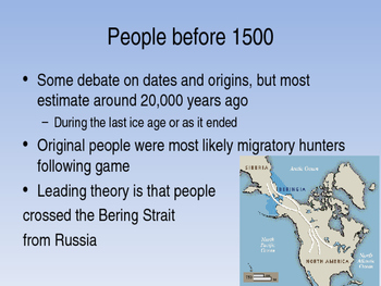 America Past and Present 9e Chapter 1 Powerpoint,  AP US History