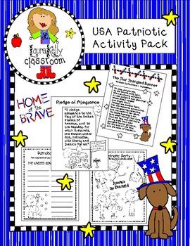 America Patriotic Activity Pack