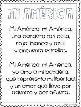 America Poem in Spanish
