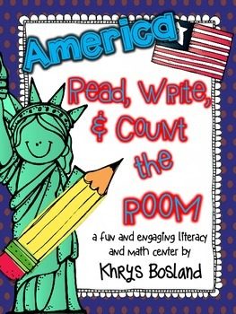 America! Read, Write, and Count the Room {Literacy/Math Center} {CCSS}