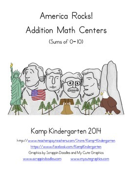 America Rocks! Addition Math Centers (Sums of 0 to 10)